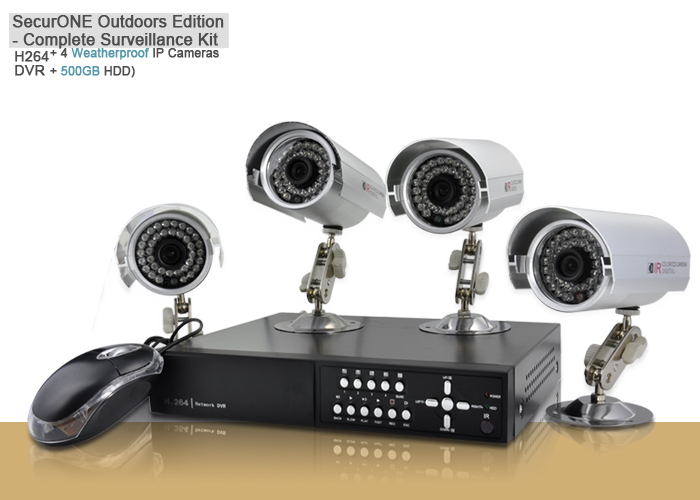 SecurONE Outdoors Edition - Complete Surveillance Kit